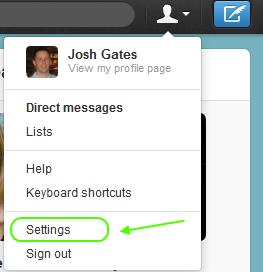 Change or merge Twitter accounts example
